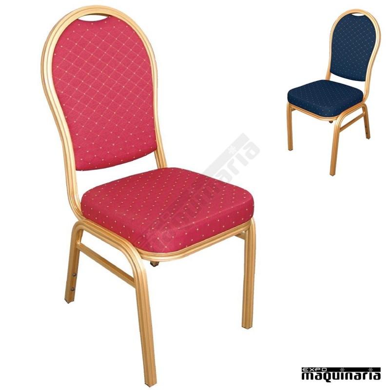 Sillas comedor tapizado moteado NIU525 sillas de comedor en acero dorado