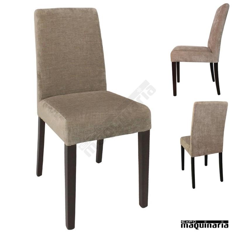 Silla tapizada madera de abedul nigk999 sillas salon for Sillas modernas de madera tapizadas