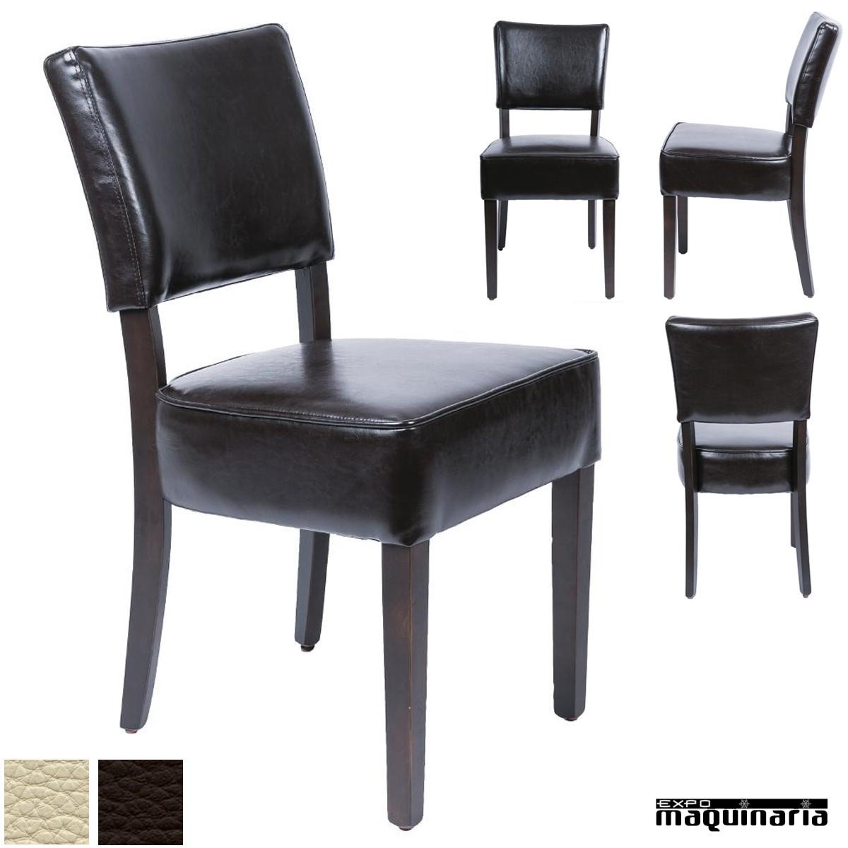 Sillas comedor tapizadas NIGF957 sillas de comedor en madera de abedul
