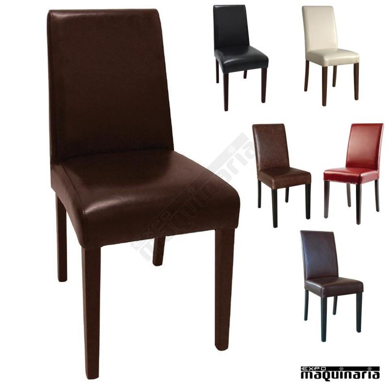 silla comedor en polipiel y abedul nigf955 sillas comedor