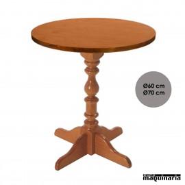 Mesa de madera torneada FASEVILLA REDONDA