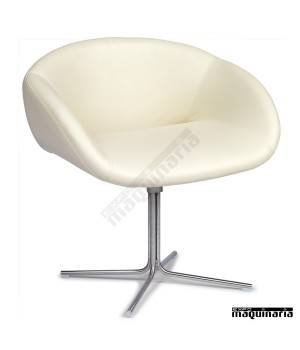 Sillon polipiel blanco pata base en cruz IM6611