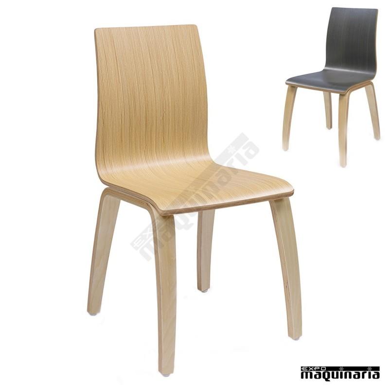 Sillas de madera im692 para sal n comedor en restaurantes for Sillas salon comedor