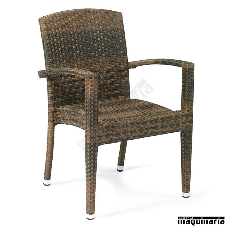 Sillones de rattan apilables im4416 sillas de terraza m dula y aluminio - Sillones rattan ...