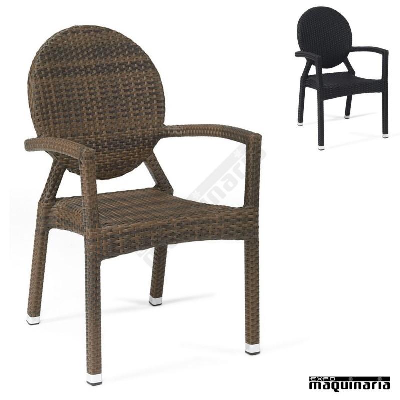 Sillones de rattan apilables im5060 sillas de terraza m dula y aluminio - Sillones rattan ...