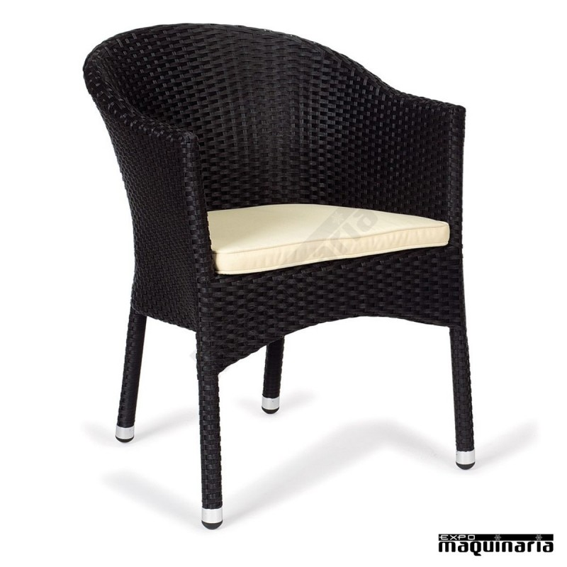 Sillon sofa estructura aluminio im5034 en medula con cojin incluido - Sillones rattan ...