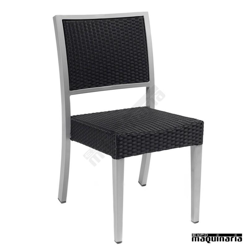 Silla apilable im5080 sillas de terraza en aluminio y - Sillas de terraza de aluminio ...