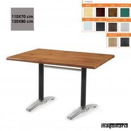 Mesa terraza rectangular con ratan IM9311SM
