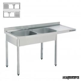 Fregadero y bastidor, Hueco lavavajillas 2 cubetas (Fondo 600)