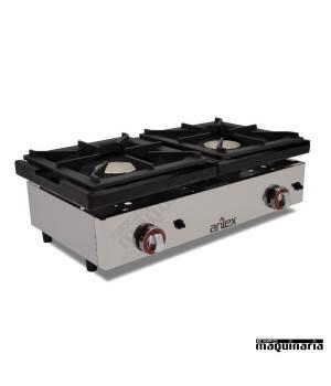 Cocina a gas de encimera con 2 quemadores phg2 for Cocina encimera a gas