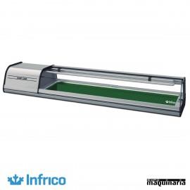 Vitrina para SUSHI INVSU6P de 162 cm. para 6 platos