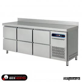 Mesa refrigerada 200x60cm 6 cajones IH8013111