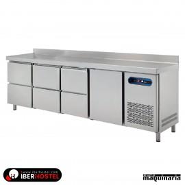 Mesa refrigerada 250x60cm 1 puertas 6 cajones IH8013114