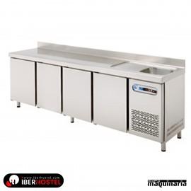 Mesa fria GN con fregadero 224x70cm IH8073106