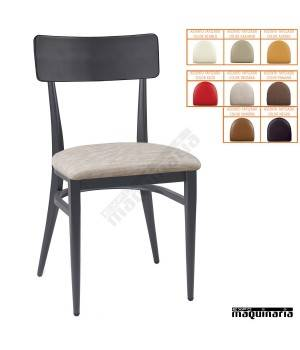 Silla cafeteria asiento tapizado IM188-T