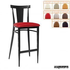 Taburete para bar asiento tapizado IM185-T