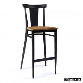 Taburete para bar asiento madera maziza IM185-MM