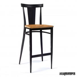 Taburete para bar asiento madera laminado IM185-M