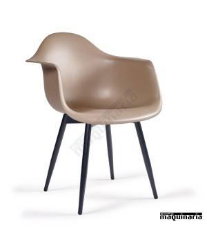 Sillon diseño estilo nordico IM289 hosteleria kashmir negro