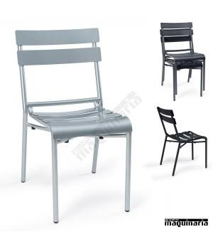 Sillas exterior en aluminio im4424 sillas apilables con - Sillas plasticas baratas ...