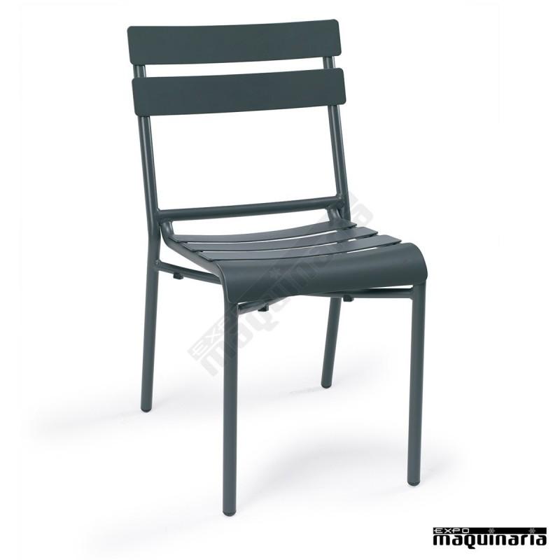Sillas exterior en aluminio im4424 sillas apilables con - Sillas aluminio terraza ...