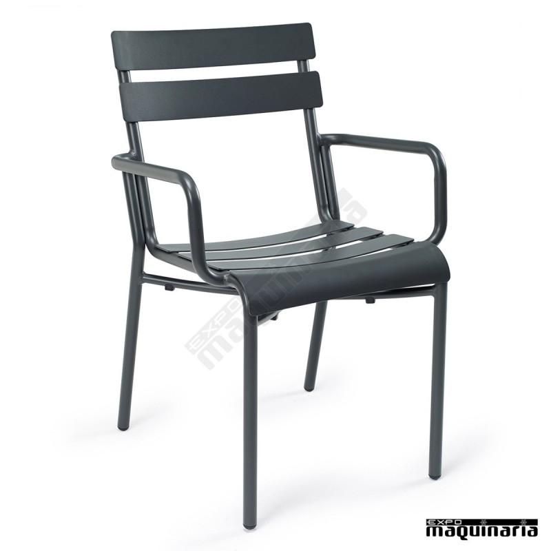 sillones terraza de aluminio im4424 sillas apilables color