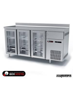 Mesa refrigerada alta 3 puertas cristal IH8033105