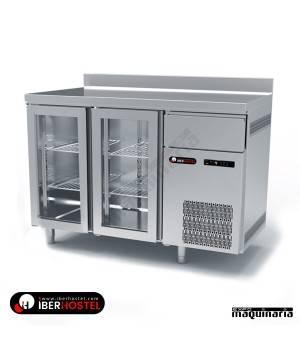Mesa refrigerada alta 2 puertas cristal IBER-FM150C-R