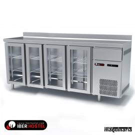 Mesa refrigerada alta 4 puertas cristal IH8033106