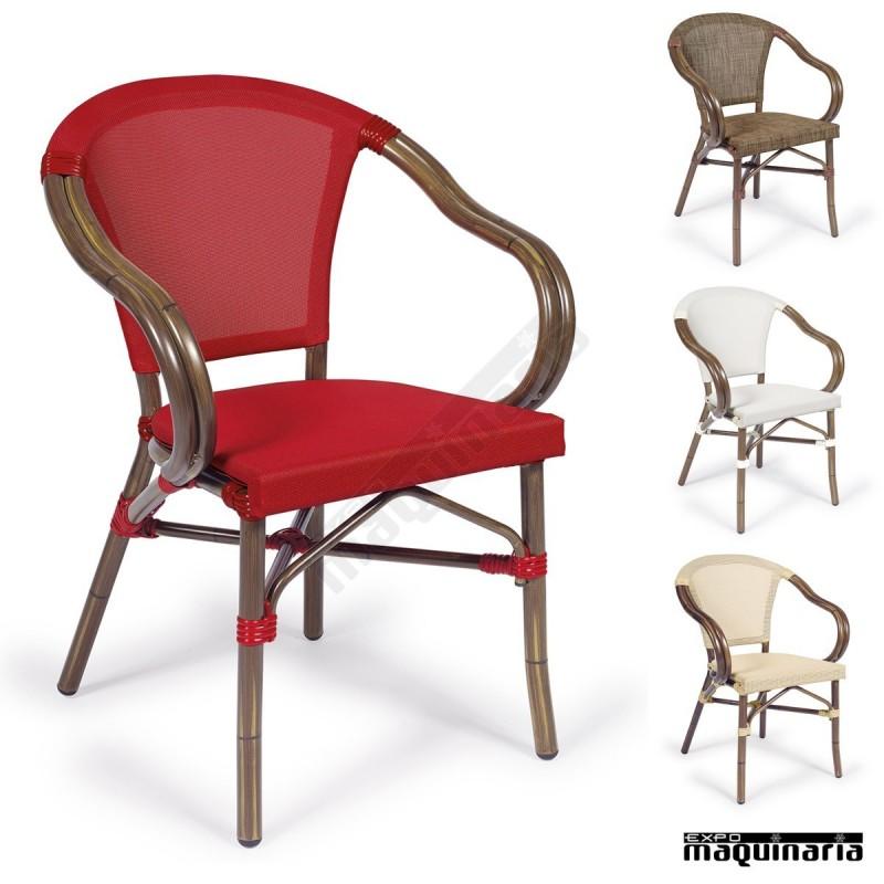 Silla apilable im4091 sillas de terraza respaldo y asiento for Sillones de terraza