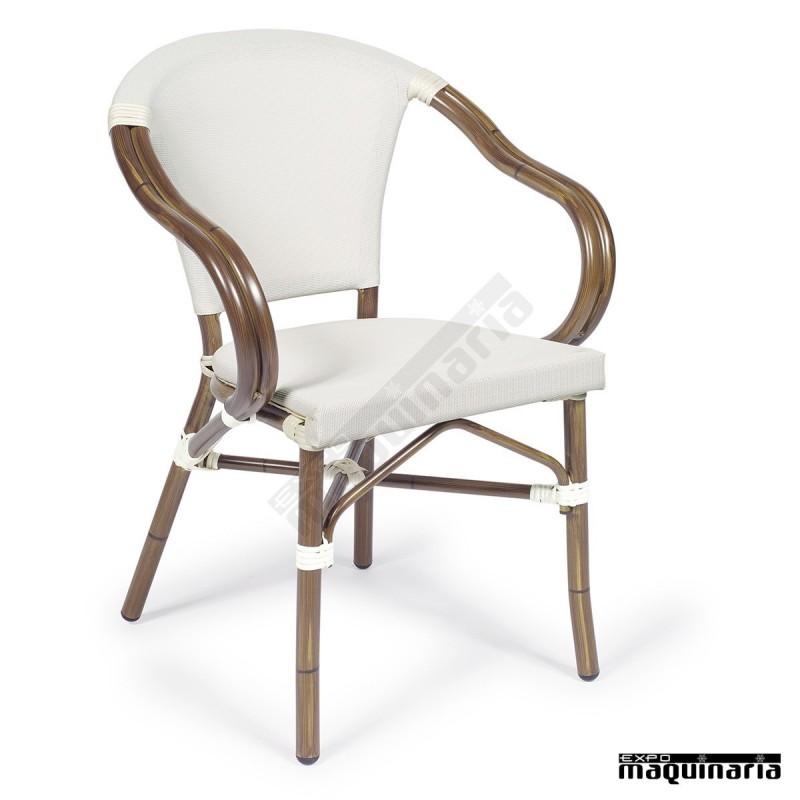 Silla apilable im4091 sillas de terraza respaldo y asiento for Sillones de exterior