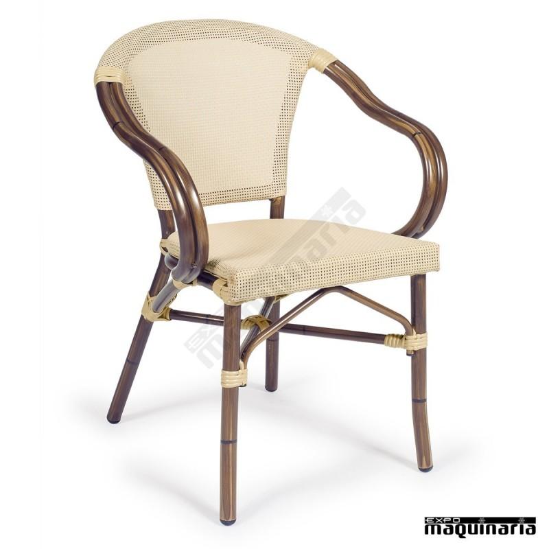 Silla apilable im4091 sillas de terraza respaldo y asiento for Asientos terraza