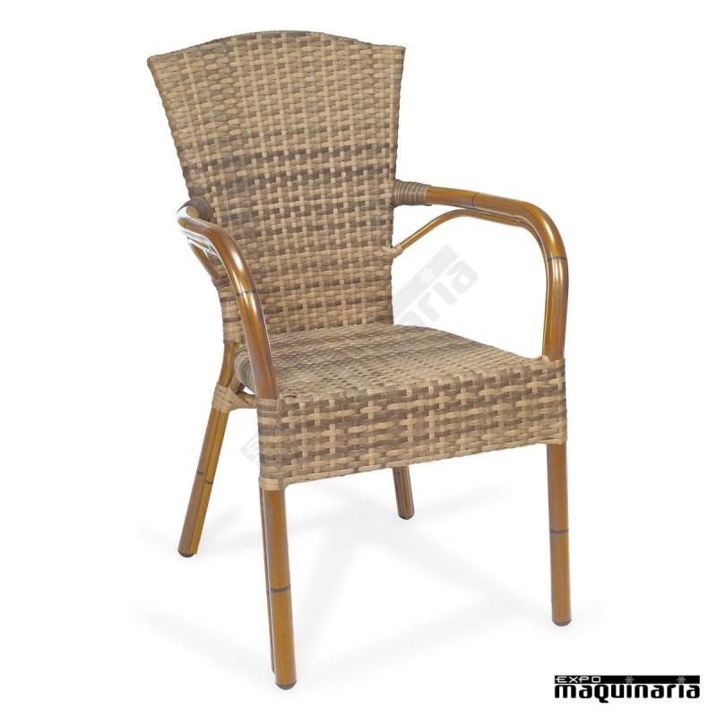 Sillones de rattan apilables im8036 sillas de terraza m dula 2 colores - Sillones rattan ...