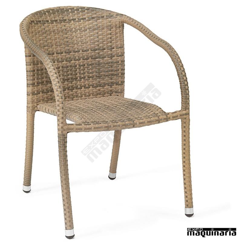 Sillones de rattan apilable im5050 sillas de terraza m dula y aluminio - Sillones rattan ...