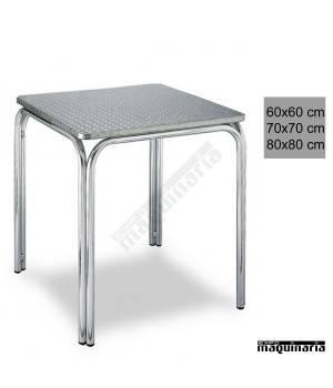 Mesa aluminio cuadrada apilable 3R82AL