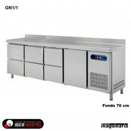 Mesa refrigerada GN1/1 de 1 puerta 6 cajones IH8073114