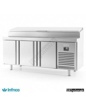Mesa refrigerada para ensaladas (196x60 cm) BMPP 2000 EN