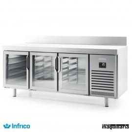 Mesa refrigerada P. cristal (196 x 70 cm) BMGN 1960 CR