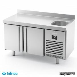 Mesa refrigerada con fregadero (146,8 x 70 cm) BMGN 1470 F