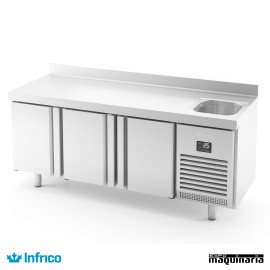 Mesa refrigerada con fregadero (196 x 70 cm) BMGN 1960 F