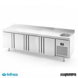Mesa refrigerada con fregadero (245,2 x 70 cm) BMGN2450F