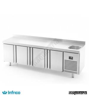 Mesa refrigerada con fregadero (245,2 x 70 cm) BMGN 2450 F