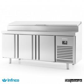 Mesa refrigerada ensaladas (196x70 cm) BMGN1960EN