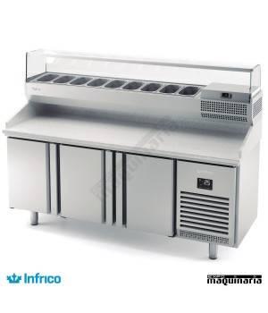 Mesa refrigerada pizzas (198 x 70 cm) INMPG1980