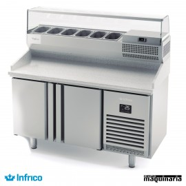 Mesa refrigerada para pizzas (149 x 70 cm) INMPG 1490