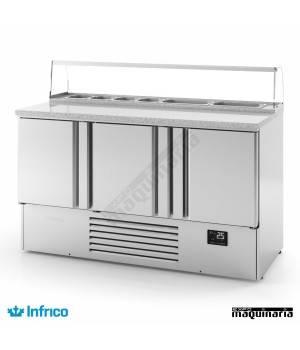 Mesa refrigerada pizzas (146x70 cm) ME1003PIZZA