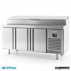 Mesa refrigerada ensaladas (218,5 x 80 cm) MR2190EN