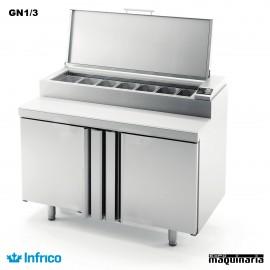 Mesa refrigerada para ensaladas (98 x 86 cm) MEV1000