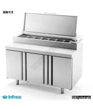 Mesa refrigerada para ensaladas (147 x 80 cm) MEV1500