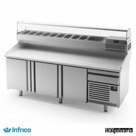 Mesa refrigerada para pizzas (230,5 x 80 cm) MP 2300